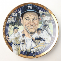 1993 Lou Gehrig Yankees LE Sports Impressions Porcelain Plate at PristineAuction.com