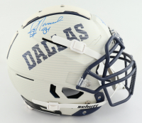 Jay Novacek Twice Signed Full-Size Authentic On-Field Hydro-Dipped F7 Helmet (JSA Hologram) (See Description) at PristineAuction.com