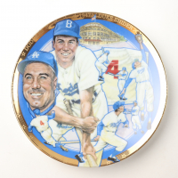 1993 Duke Snider Dodgers LE Sports Impressions Porcelain Plate at PristineAuction.com