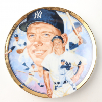 1993 Mickey Mantle Yankees LE Sports Impressions Porcelain Plate at PristineAuction.com