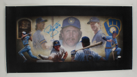 """Robin Yount Signed Brewers 19x37 Print on Canvas Inscribed """"HOF '99"""" (JSA COA) at PristineAuction.com"""