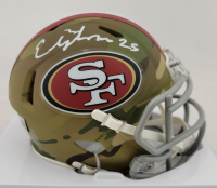 Elijah Mitchell Signed 49ers Camo Alternate Speed Mini Helmet (Beckett Hologram) at PristineAuction.com