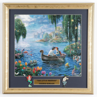 """Thomas Kinkade """"The Little Mermaid"""" 16x16 Custom Framed Print Display with Set of (2) """"The Little Mermaid"""" Movie Pins at PristineAuction.com"""