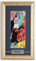 "LeRoy Neiman ""Michael Air Jordan"" 9x15 Custom Framed Print Display at PristineAuction.com"