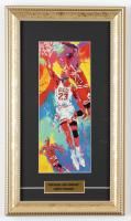 "LeRoy Neiman ""Michael Air Jordan"" 8x14.5 Custom Framed Print Display at PristineAuction.com"
