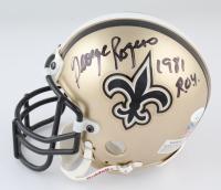 "George Rogers Signed Saints Throwback Mini Helmet Inscribed ""1981 ROY"" (JSA COA) at PristineAuction.com"