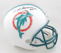 """Dwight Stephenson Signed Dolphins Full-Size Throwback Helmet Inscribed """"HOF 98"""" (Schwartz Sports COA) at PristineAuction.com"""