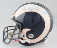 """Roman Gabriel Signed Rams Full-Size Authentic On-Field Throwback Helmet Inscribed """"1962-1977"""" (JSA COA) at PristineAuction.com"""