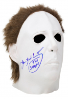 """James Jude Courtney Signed """"Halloween"""" Michael Myers Mask Inscribed """"The Shape"""" (JSA COA) at PristineAuction.com"""