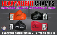 Schwartz Sports - Boxing Heavyweight Champion Signed Boxing Glove Mystery Box – (Knockout Dozen Edition - Series 1) (Limited to ONLY 12!!) (ALL GLOVES ARE SIGNED BY HEAVYWEIGHT CHAMPIONS!!) at PristineAuction.com