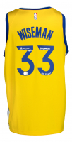 """James Wiseman Signed Warriors Nike Jersey Inscribed """"Dub Nation"""" & """"Big Ticket"""" (Beckett COA) at PristineAuction.com"""