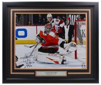 "Carter Hart Signed Flyers 20x24 Custom Framed Photo Inscribed ""1st NHL SO"" ""10/9/19"" (Fanatics Hologram) at PristineAuction.com"