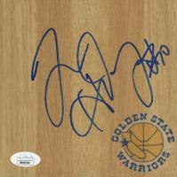 Tim Hardaway Signed Warriors Logo 6x6 Floorboard (JSA COA) at PristineAuction.com