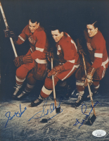 Gordie Howe, Ted Lindsay & Sid Abel Signed Red Wings 8x10 Photo (JSA COA) at PristineAuction.com