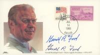 Gerald Ford Signed 1985 Inauguration Commemorative Envelope (JSA COA) at PristineAuction.com