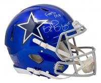 "Ezekiel Elliott Signed Cowboys Full-Size Authentic On-Field Flash Alternate Speed Helmet Inscribed ""Feed Me"" (Beckett COA) at PristineAuction.com"