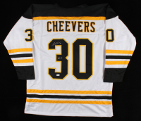 """Gerry Cheevers Signed Jersey Inscribed """"HOF 85"""" (JSA COA) at PristineAuction.com"""