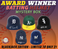 Schwartz Sports Baseball Award Winner Signed Batting Helmet Mystery Box - (Blackjack Edition - Series 1) (Limited to ONLY 21!!)(ALL BATTING HELMETS ARE SIGNED BY AN AWARD WINNER!!!) at PristineAuction.com