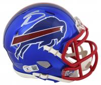 Stefon Diggs Signed Bills Flash Alternate Speed Mini Helmet (Beckett COA) at PristineAuction.com