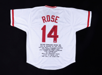 """Pete Rose Signed Career Highlight Stat Jersey Inscribed """"Big Red Machine"""" (Beckett COA) at PristineAuction.com"""
