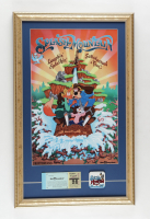 Disneyland Splash Mountain 15x24 Custom Framed Display with Vintage Ticket Book & Splash Mountain Pin at PristineAuction.com