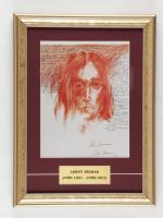 "Leroy Neiman ""John Lennon"" 12x16 Custom Framed Photo Display at PristineAuction.com"