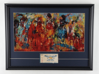 """LeRoy Neiman """"Kentucky Derby"""" 18x23 Custom Framed Print Display With 1970 Kentucky Derby Ticket at PristineAuction.com"""