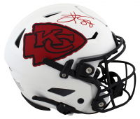Travis Kelce Signed Chiefs Full-Size Authentic On-Field Lunar Eclipse Alternate Speed-Flex Helmet (Beckett COA) at PristineAuction.com