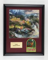 "Thomas Kinkade ""Bambi"" 16x20 Custom Framed Print Display with Movie Patch at PristineAuction.com"