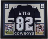 Jason Witten Signed 35x43 Custom Framed Jersey Display (Beckett Hologram & Witten Hologram) at PristineAuction.com