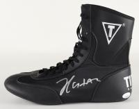 Julio Cesar Chavez Signed Title Boxing Shoe (JSA COA) at PristineAuction.com