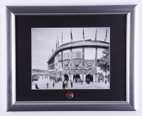 """Pirates """"Forbes Field"""" 13x16 Custom Framed Photo Display with 1960's Forbes Field Lapel Pin at PristineAuction.com"""