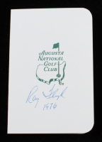 """Ray Floyd Signed Augusta National Golf Club Score Card Inscribed """"1976"""" (JSA COA) at PristineAuction.com"""