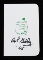 """Bob Goalby Signed Augusta National Golf Club Score Card Inscribed """"'68"""" (JSA COA) at PristineAuction.com"""
