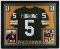 """Paul Hornung Signed 35x43 Custom Framed Jersey Inscribed """"HOF 86""""(JSA COA) at PristineAuction.com"""