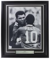 Pele Signed Brazil 22x27 Custom Framed Photo Display (PSA Hologram) at PristineAuction.com