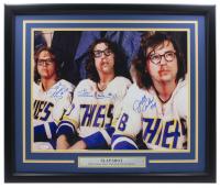 """David Hanson, Jeff Carlson & Steve Carlson Signed """"Slap Shot"""" 22x27 Custom Framed Photo Display (JSA COA) at PristineAuction.com"""