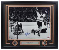 Bobby Clarke Signed Flyers 22x27 Custom Framed Photo Display (YSMS Hologram & JSA COA) at PristineAuction.com