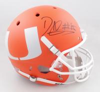 David Njoku Signed Miami Hurricanes Full-Size Helmet (PSA COA) at PristineAuction.com