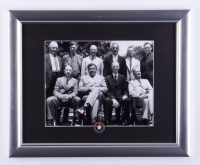 Babe Ruth, Ty Cobb, & The Inaugural Hall Of Fame Class 13x16 Custom Framed Photo Display with Hall Of Fame Pin at PristineAuction.com
