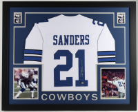 Deion Sanders Signed 35x43 Custom Framed Jersey Display (Beckett Hologram) at PristineAuction.com
