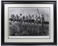"""Historical Photo Archive - """"Lunch atop a Skyscraper"""" LE 22x27 Custom Framed Fine Art Giclee on Paper #/375 (PA LOA) at PristineAuction.com"""