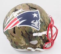 Jonnu Smith Signed Patriots Full-Size Camo Alternate Speed Helmet (Beckett COA) at PristineAuction.com