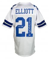 "Ezekiel Elliott Signed Jersey Inscribed ""Feed Me"" (Beckett COA) at PristineAuction.com"