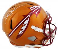 Deion Sanders Signed Florida State Seminoles Full-Size Flash Alternate Speed Helmet (Beckett COA) at PristineAuction.com