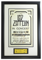 Led Zeppelin 16x23 Custom Framed 1980 Chicago Ticket & Ad Print at PristineAuction.com
