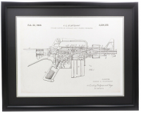 AR-15 Patent 23x27 Custom Framed Print Display at PristineAuction.com