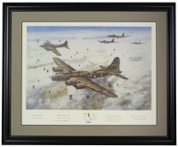 Memphis Belle WWII LE 20x26 Custom Framed Photo Display at PristineAuction.com