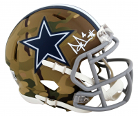 Dak Prescott Signed Cowboys Camo Alternate Speed Mini Helmet (Beckett Hologram) at PristineAuction.com