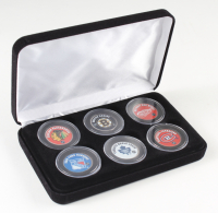 Set of First (6) NHL Teams Royal Canadian Mint Medallion Coins Set at PristineAuction.com